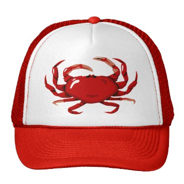 Professional Business Red Crab Hat