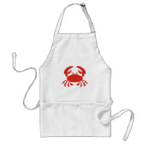 Red Crab Logo Adult Apron