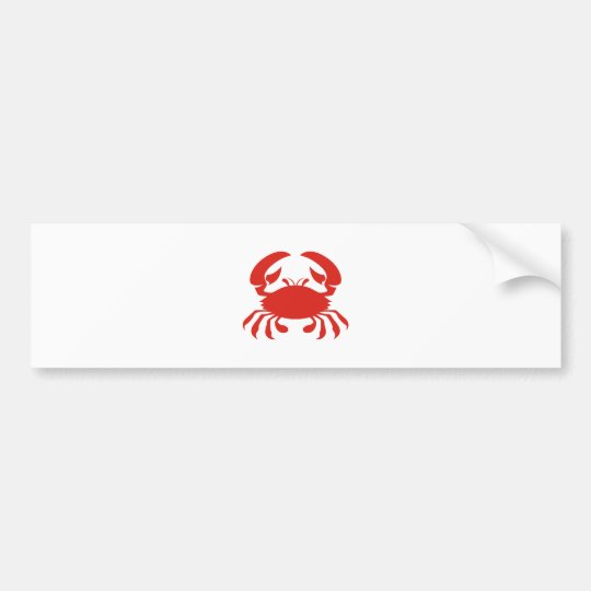 Red Crab Logo Bumper Sticker