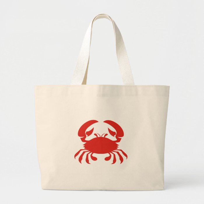 Red Crab Logo Large Tote Bag