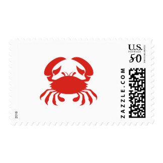 Red Crab Logo Postage