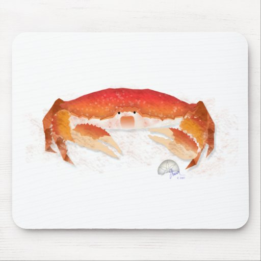 Red Crab Mouse Pad
