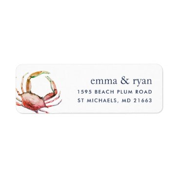 Red Crab | Nautical Return Address Label