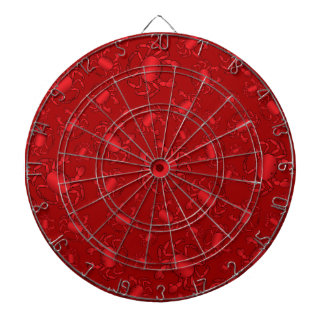 Red crab pattern dartboard