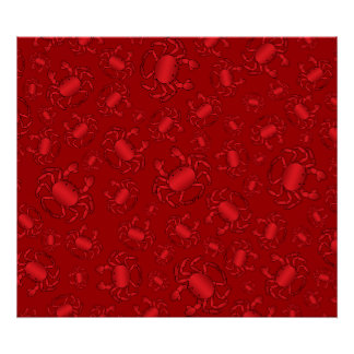 Red crab pattern posters