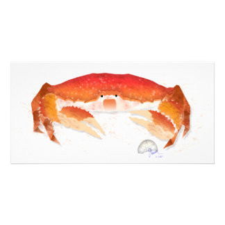 Red Crab Photo Card