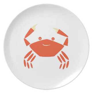 Red Crab Party Plate