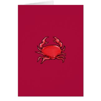 Red Crab red Card card
