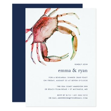 Red Crab Rehearsal Dinner Invitation