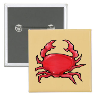 Red Crab sand Button