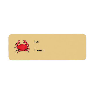 Red Crab sand small Gift Tag