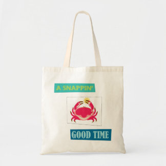 Red crab snappin good time reusable bag