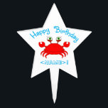 "Red Crab Star Cake Pick<br><div class=""desc"">Coming Soon!</div>"