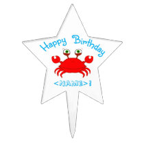 Red Crab Star Cake Pick