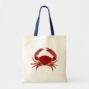 Beach Themed Red Crab Tote Bag