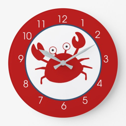 Red Crab Under the Sea Clock - No Name