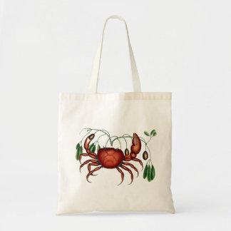 Red crab vintage illustration bags