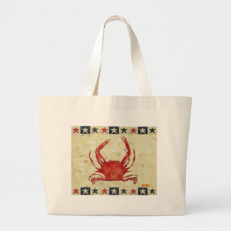 Red Crab with Stars border Bags