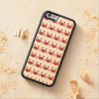 Red Crab Carved® Maple iPhone 6 Bumper