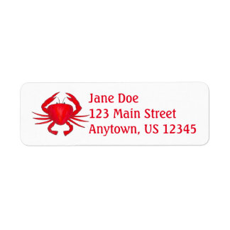 Red Crabs Maryland Crab Beach Ocean Labels