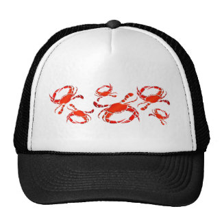 Red Crabs Parade Trucker Hat