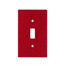 Red Crackle Texture Light Switch Cover
