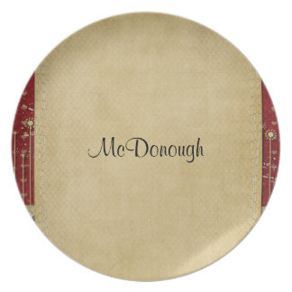 Red Crafty Love Party Plate
