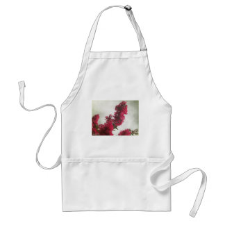 Red Crape Myrtle Impasto Adult Apron