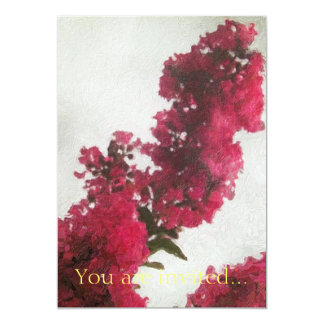 Red Crape Myrtle Impasto Card