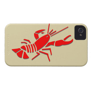 Red crawfish on iPhone 4 iPhone 4 Cover