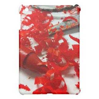 Red Crayon Shavings Photo iPad Case