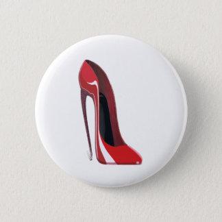 Red Crazy Heel Stiletto Shoe Art Button