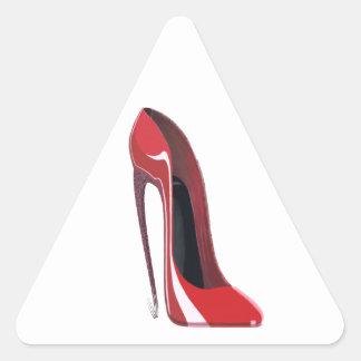 Red Crazy Heel Stiletto Shoe Art Triangle Sticker