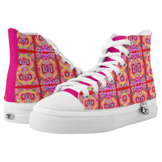 Red Crazy Paisley Printed Shoes