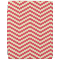 Red/Cream Chevron Pattern iPad Cover