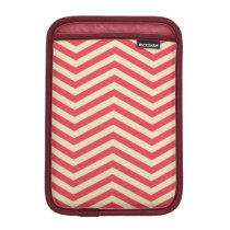 Red/Cream Chevron Pattern iPad Mini Sleeve
