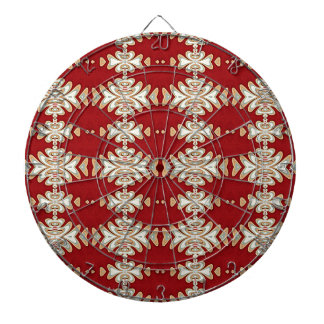 Red Cream Native American Style Pattern Dartboards