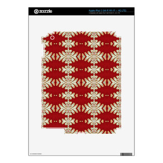 Red Cream Native American Style Pattern iPad 3 Decal