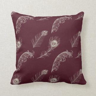 Throw Pillows Cream : Cream And Burgundy Pillows - Decorative & Throw Pillows Zazzle