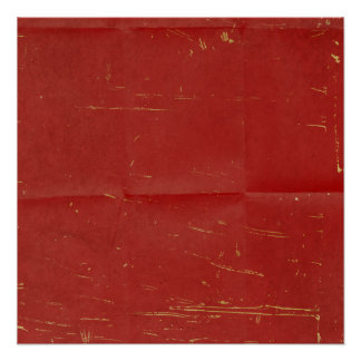 Red Creased Scratched Background Poster