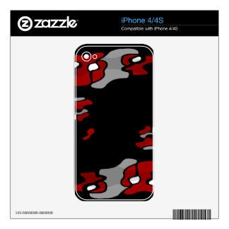 Red creativity 2 skins for iPhone 4