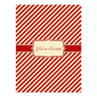 Red & Crème Holiday Invitation