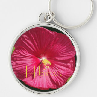 Red Crepe Hibiscus Keychains