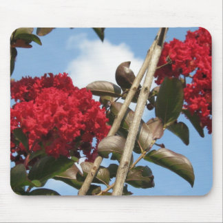 red crepe myrtle mouse pad