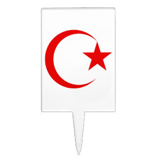 Red Crescent & Star.png Cake Topper