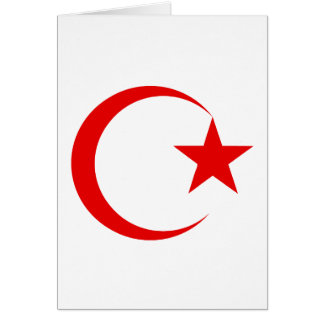 Red Crescent & Star.png Greeting Cards