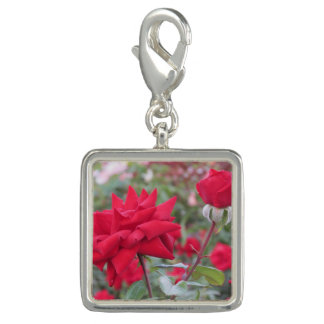 Red Crimson Bouquet Roses Photo Charms