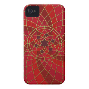 red crimson chilli bean Chilli Bean Swirl Mandala iPhone 4 Case-Mate Case