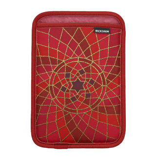 red crimson chilli bean Chilli Bean Swirl Mandala Sleeve For iPad Mini