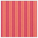 [ Thumbnail: Red & Crimson Lines Fabric ]